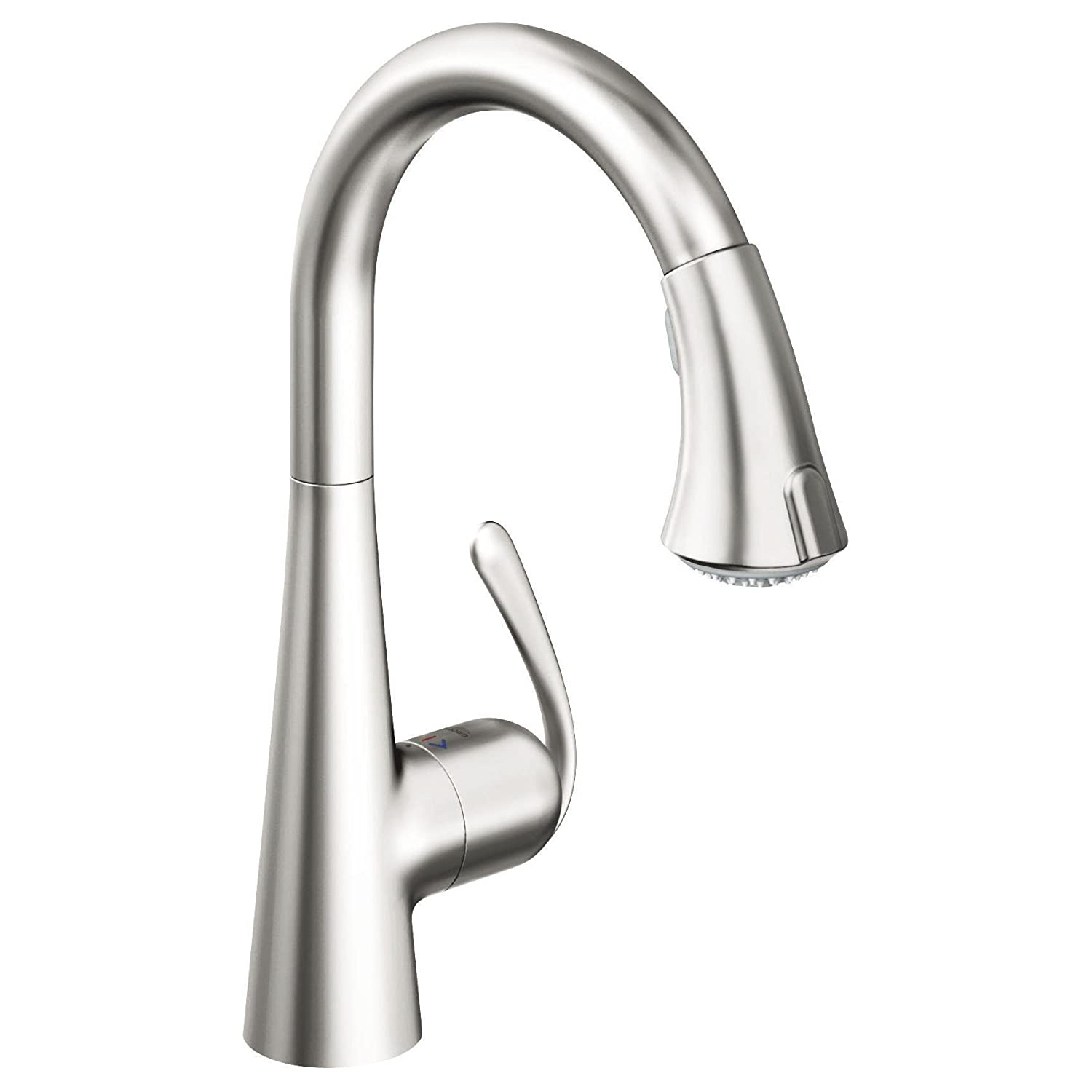 Grohe 32296dc1 Ladylux Café Main Sink Dual Spray Pull Down Kitchen Faucet,  SuperSteel   Touch On Kitchen Sink Faucets   Amazon.com Design Inspirations