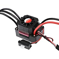 Crazeopny-UK 60A Brushless ESC, Waterproof RC Car Electronic