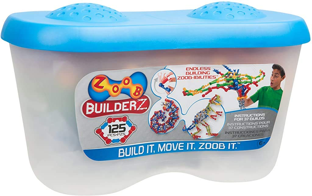ZOOB 0Z11125 ZOOB 125 Moving Mind-Building Modeling System, Assorted Colors, 125-Pieces, Multi, large