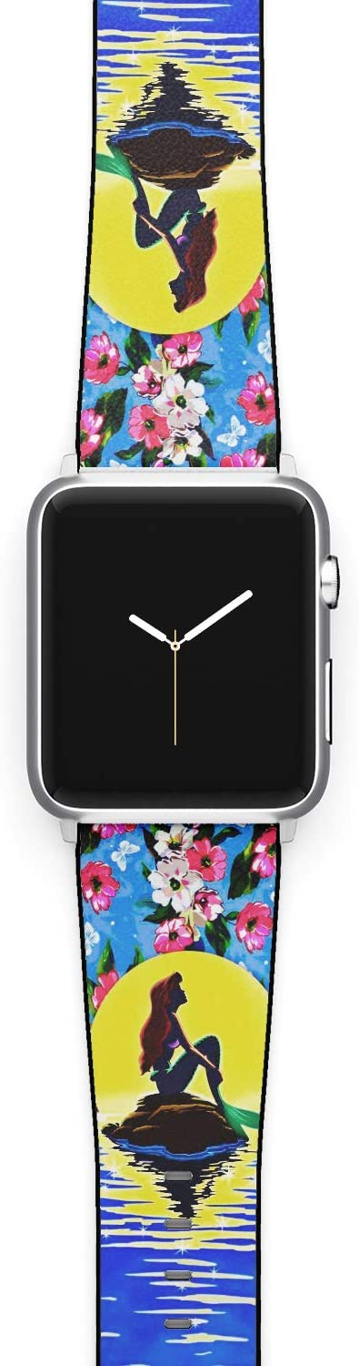 Watch Band Compatible with Apple iWatch All Series 38mm 40mm 42mm 44mm Cartoon Design Strap (merm1) (38/40mm)