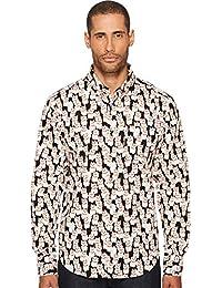 Men's Regular Shirt-Lucky Cats-Black