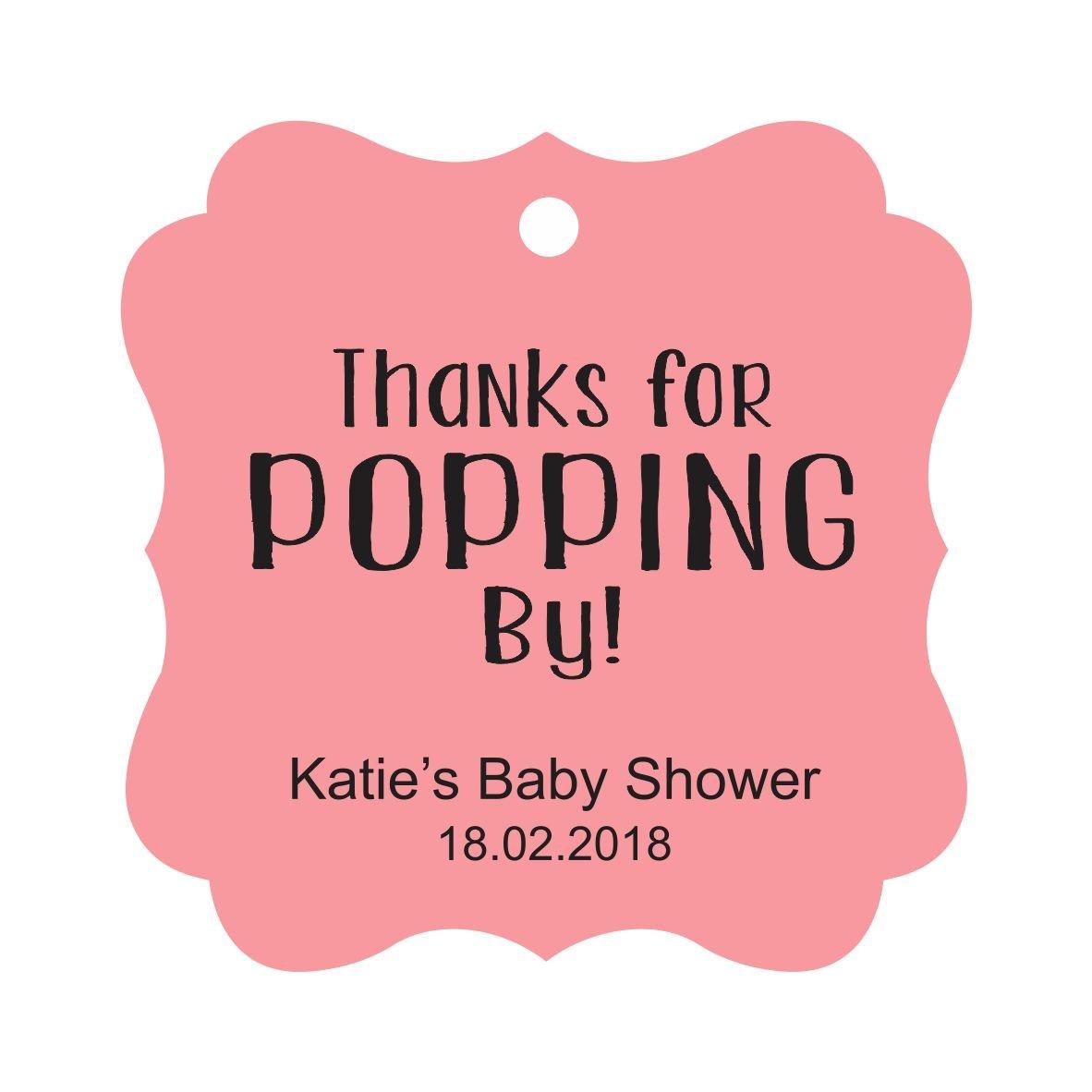 Amazon.com : Darling Souvenir Personalized Baby Shower Favor Tags ...