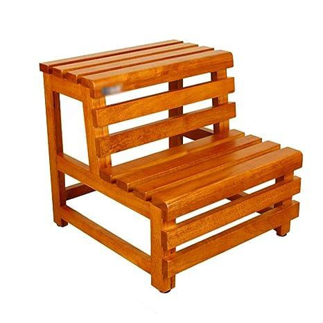 Amazon.com: Taburete de madera para el baño, taburete de ...