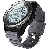 Fuibo Smartwatch, Männer Bluetooth Smart Watch Unterstützung GPS, Luftdruck, Anruf, Herzfrequenz, Sportuhr | Intelligente Armbanduhr Sport Fitness Tracker Armband