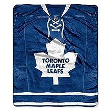 NHL Boston Bruins Jersey Royal Plush Raschel Throw Blanket