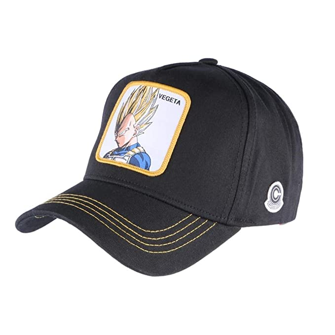 Collabs Gorra Dragon Ball Z Vegeta Trucker Negro (Talla única): Amazon.es: Ropa y accesorios