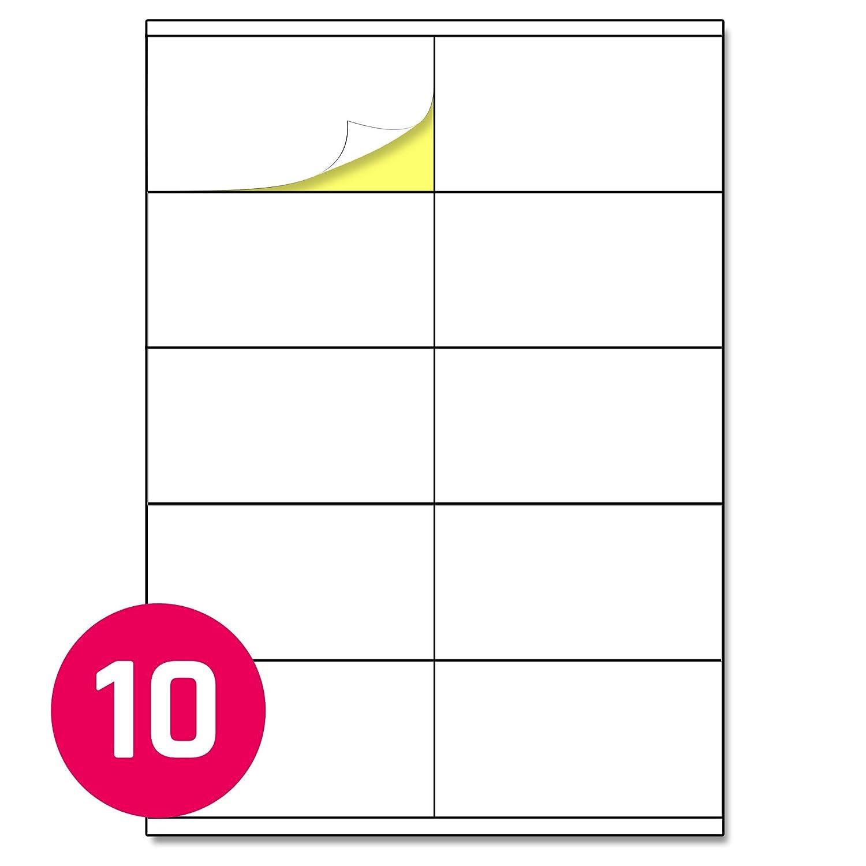 A6 200 Blatt 148,5 x 105 mm 4 St/ück pro Blatt A4 Aufkleber Etiketten Selbstklebend matt