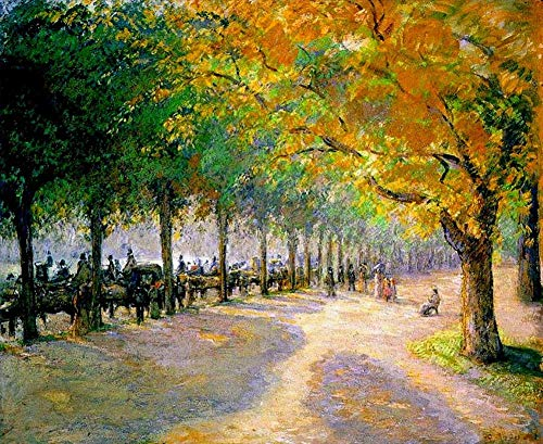 $50-$2000 Handmade Oil Painting by College Teachers - Hyde Park London 1890 Camille Pissarro Scenery Canvas Art for Home Wall Decoration LEPS3 -Large Size 15