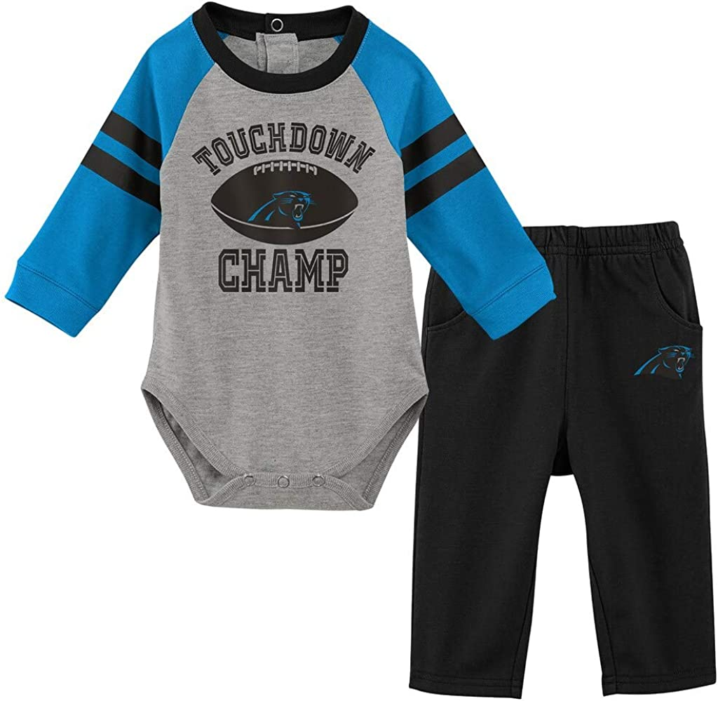 OuterStuff NFL Newborn Infants Touchdown Long Sleeve Creeper and Pant Set