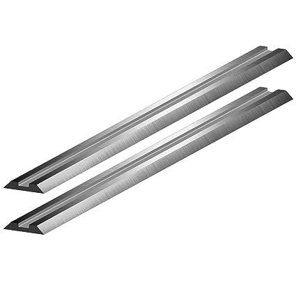 Almipex - Lote de cuchillas de recambio para garlopa electrónica (2  unidades 5772d86150ad