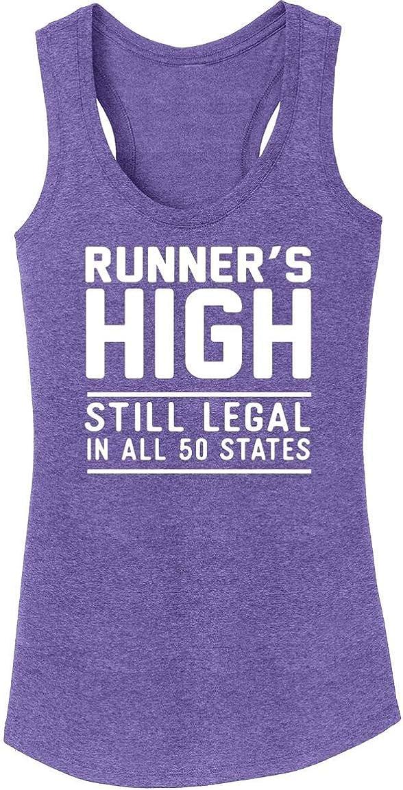 Comical Shirt Ladies Runners High Still Legal Tri-Blend Tank Top