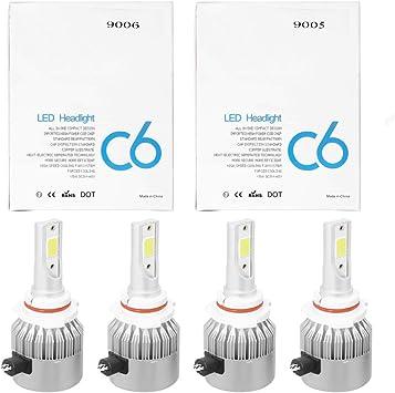 Alla Lighting Combo 9005 9006 LED Headlight Bulb High Low Beam Kit forGMC Sierra