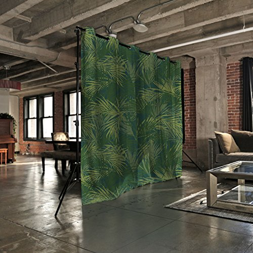 11 Panel Freestanding Partition (RoomDividersNow Premium Heavyweight Freestanding Room Divider Kit - Small A, 8ft Tall x 7ft - 12ft 6in Wide (The Jungle))