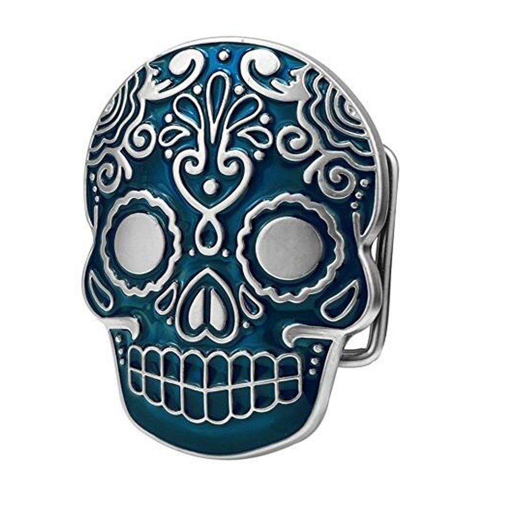 PANCY Mens Mexican Katrina Skull Belt Buckle