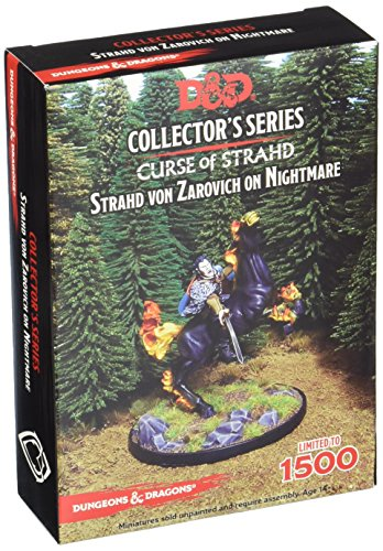 D&D 71050BFM Curse of Strahd, Strahd Von Zarovich Unpainted and Unassembled Resin Figure, 3 Pieces