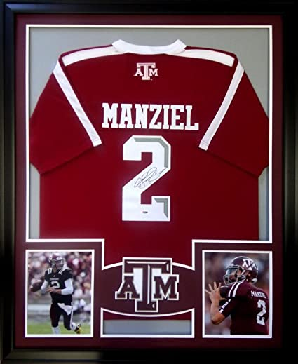 65822ad8c66 Image Unavailable. Image not available for. Color  Johnny Manziel Framed Jersey  Signed PSA DNA COA Autographed Texas A M