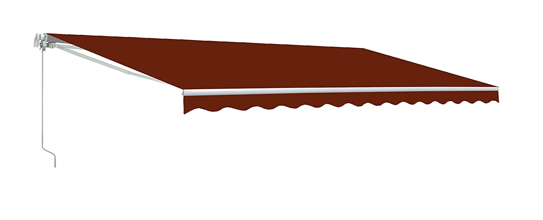 ALEKO AW10X8BURG37 Retractable Patio Awning 10 x 8 Feet Burgundy