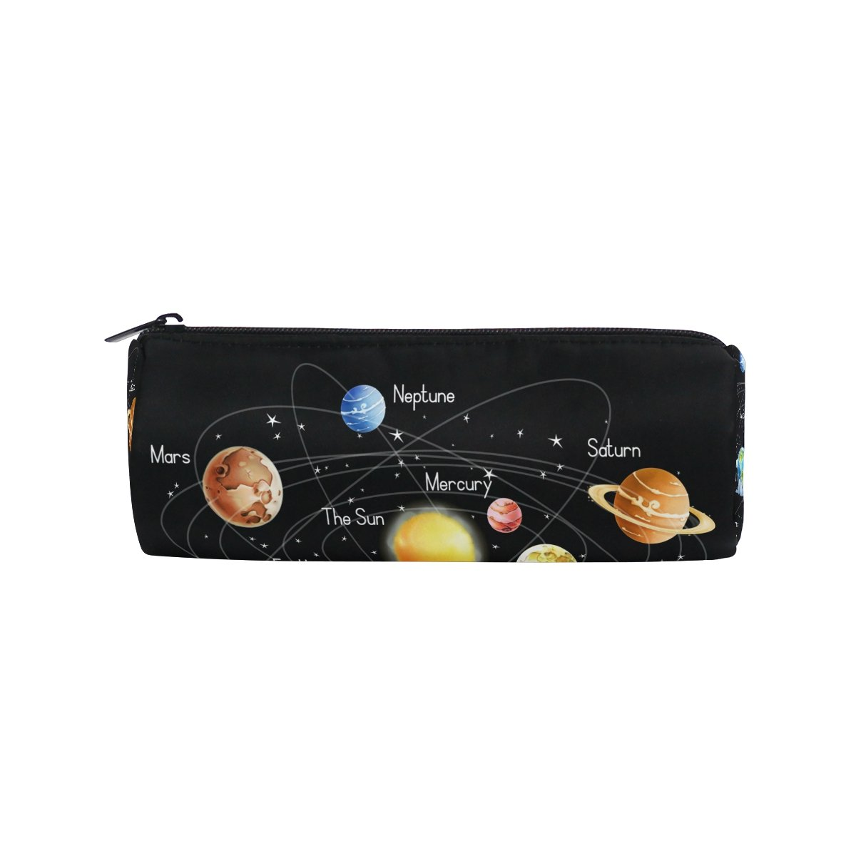 ShineSnow Solar System Galaxy Pencil Pen Bag Case, Planet Sun Moon Student Office College Middle School High School Large Storage Pouch Holder Box Organizer