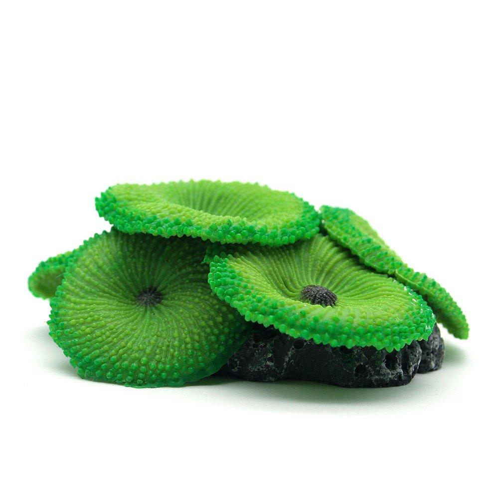 Forever Love Water Plastic Simulation Silicone Plant Decoration for Aquarium - Green