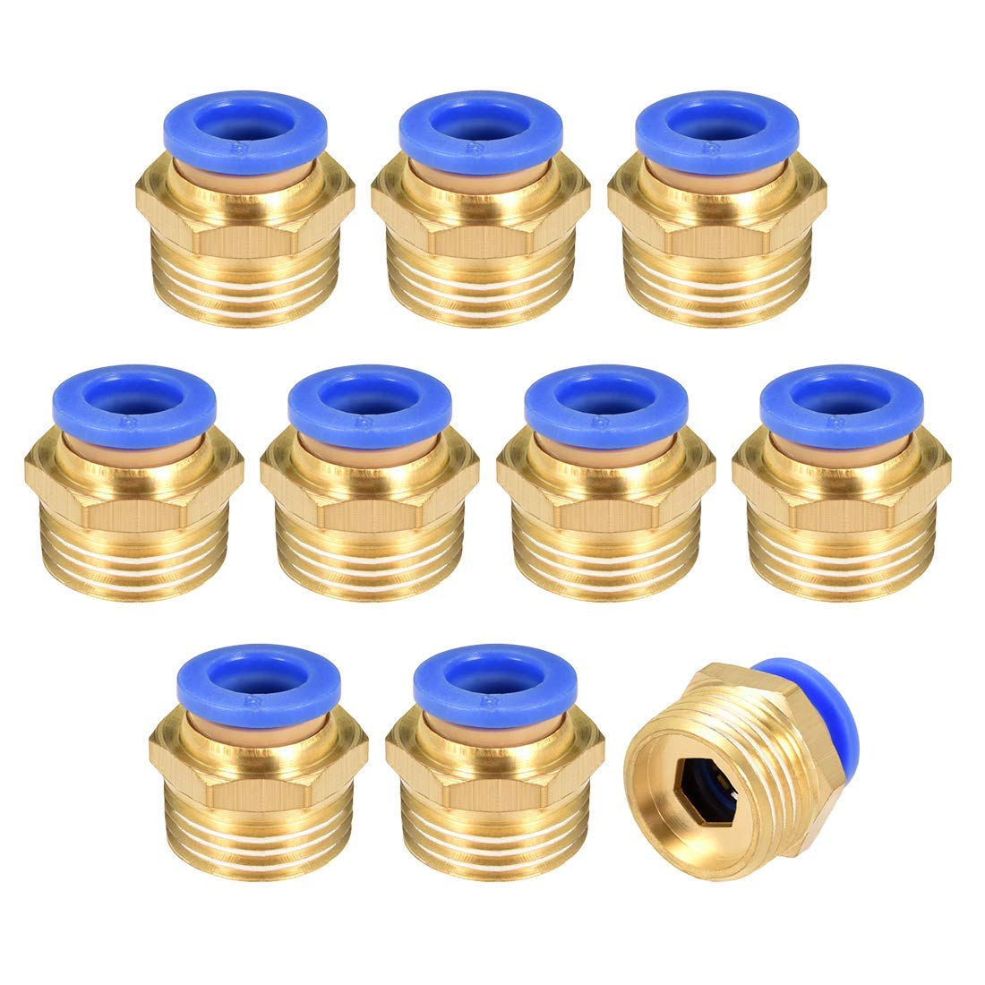 Sturdy 10pcs Ring Lock Oil Tube Compression Ferrule Tube Compression Fitting Connector Tube 4-12mm Female Thread 1//8 1//4 3//8 1//2 BSP Size : OD tube 10mm, Thread Specification : 38