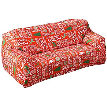 Amazon Com Hootech Christmas Couch Cover Spandex Loveseat