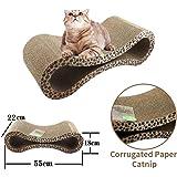 Cat Corrugated Scratcher Kitten Pet Claw Cardboard Scratching Post Board Bed Toy Mat Pad Catnip