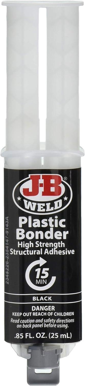 J-B Weld 50139 Plastic Bonder Corps Panneau Adhésif et Gap Filler seringue-Dries