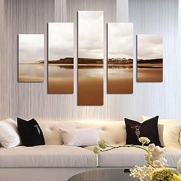 Ölgemälde Wandgemälde, Wand-Kunst für Wohnzimmer Bild von Welt-Seen ...