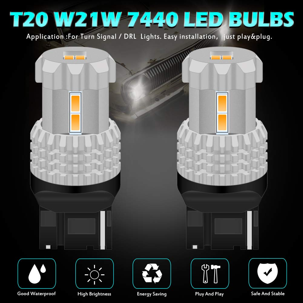 KaTur 7440 7440NA 7441 992 WY21W Bombillas LED de Alta Potencia ...