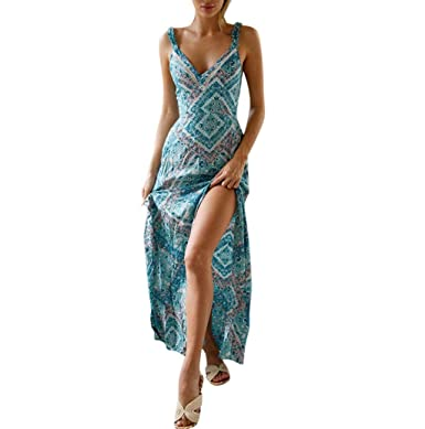 5f2c7850533 Robe Longue Ete Boheme Chic Soiree Robe Femme Grande Taille Dos Nu Femme  Vetement ÉLéGant Jupe