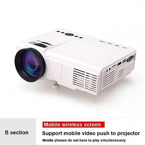 ZZG Proyector hogar mini hogar HD portátil proyector teléfono ...