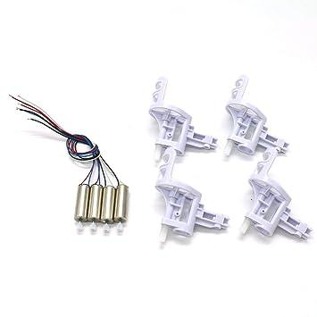 Jasnyfall 2 Pares de Motores de Motor de dron con 4 Cubiertas para ...
