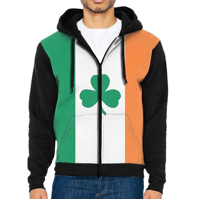 Amazon.com: sweet-yz hombre trébol de bandera irlandesa ...