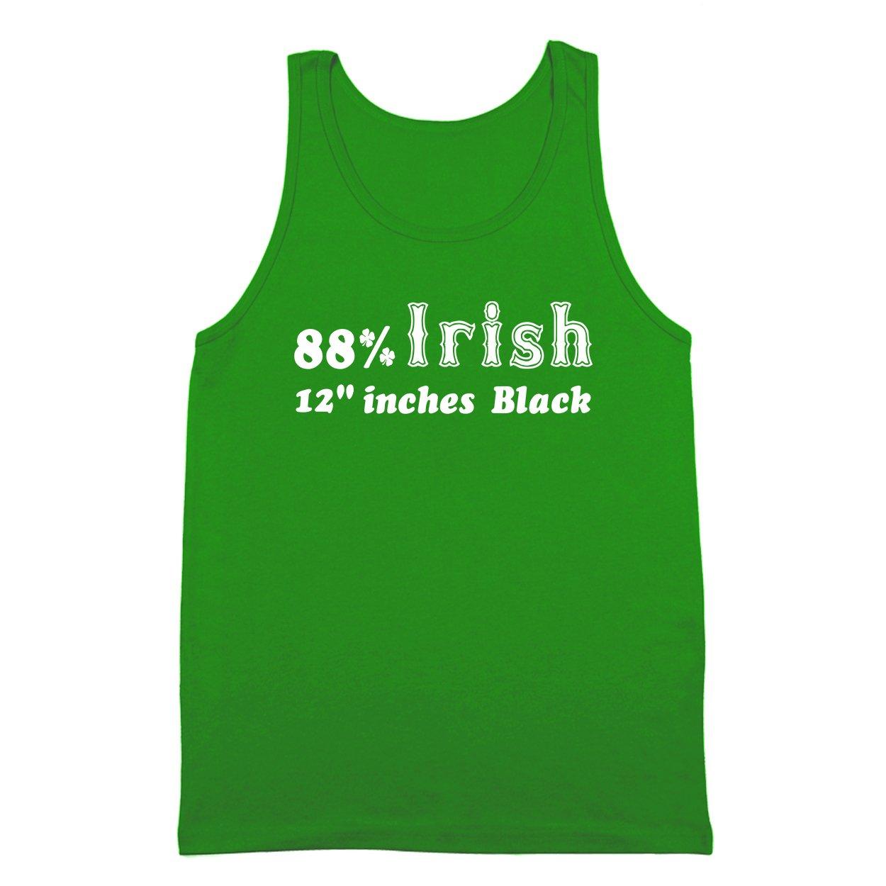 88 Irish 12 Inches Black Funny Dirty Rude Vulgar Sexual Humor Mens Tank Top