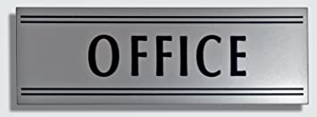 Amazon.com : JP Signs - Office Sign - 9 X 3 Inch (Silver / Black ...
