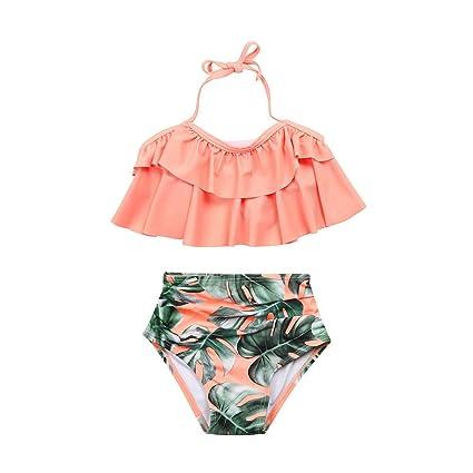 ea07af96675cc Amazon.com: ❤ Mealeaf ❤ 2Pcs Toddler Baby Girls Swimwear Bathing Bikini Set  Outfits Swimsuit(3T-6T): Home & Kitchen