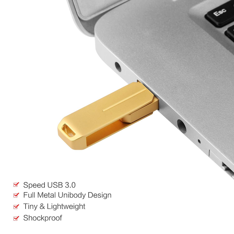 PANGUK 128GB USB 30 Flash Drives Pen Drive Memory Stick Thumb Drive USB DrivesSliver128gb