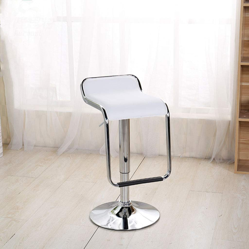 White NJ STOOLS- Bar Chair Lift Front bar Chair redating bar Stool Cash Register Chair Home high Chair (color   RED)