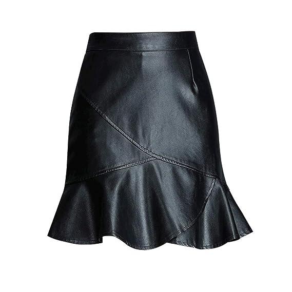 Xiuy Elasticos Slim Falda Asimétrica Sexy Faldas Cortas Elegante ...