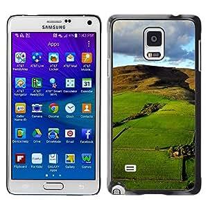 Be Good Phone Accessory // Dura Cáscara cubierta Protectora Caso Carcasa Funda de Protección para Samsung Galaxy Note 4 SM-N910 // Nature Beautiful Forrest Green 126