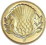 Manuscript Pen Decorative Seal Coin, 0.75-Inch, Thistle