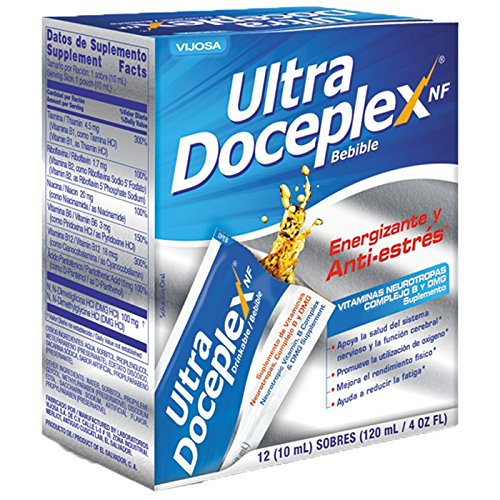 Amazon.com: Ultra Doceplex Nf Drinkable with 12 10ml Energizing and Anti-stress Neurotropic Vitamins B Complex and DMG: Health & Personal Care