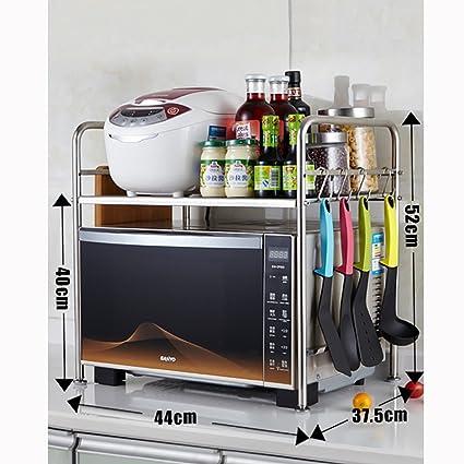 YANZHEN Estantería Cocina Baldas Horno Microondas Horno Multifunción Acero Inoxidable, 7 Modelos Cocina Estantes (