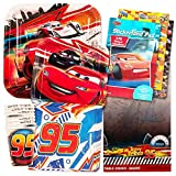 Disney Cars Party Supplies Ultimate Set -- Plates, Dessert Plates, Cups, Napkins, Table Cover and Stickers!