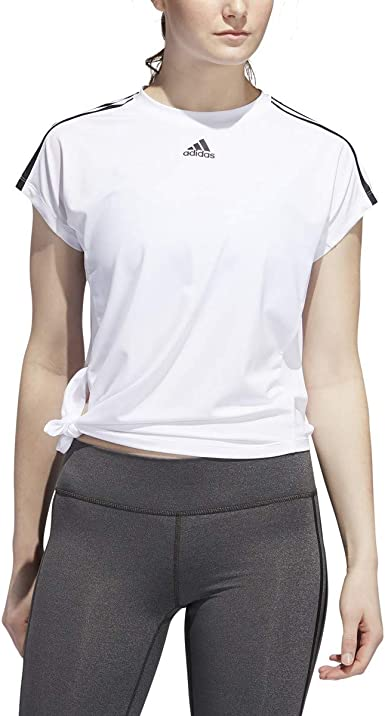 Adidas Originals Camiseta para mujer con 3 rayas: Amazon.es ...