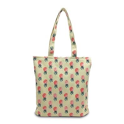 Amazon.com: mmziart piña fruta bolsa de hombro lona plegable ...
