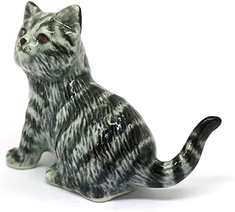 Gray Tabby Kitten Felted Cat figurine Wool sculpture \u0421at statue Gray Cat lovers gift Veterinarian gift Tabby Cat owner gift Felt Cat Toy