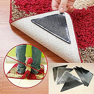 Carpets, Mats & Rugs - 4 Pair Anti Slip Coner Rubber Mat Tr Non Slip Carpet Skid Grippers Rug - Non Slip Carpet Mat Bath Shoes Socks Rug Pad Furniture Pads Hangers - Reable Grippers
