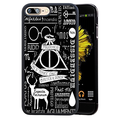 "Price comparison product image Harry Potter iPhone 7 Plus 5.5"" Case, Onelee Harry Potter Black TPU and PC Case for iPhone 7 Plus 5.5"" [Scratch proof] [Drop Protection]"