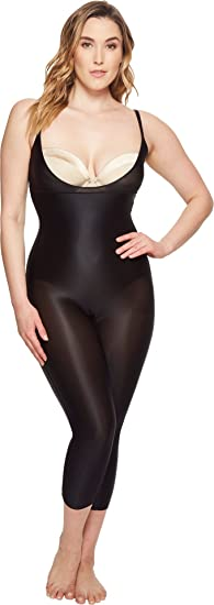 f90eed9579e0f Spanx Womens Plus Size Suit Your Fancy Open-Bust Catsuit - Black - 1X Plus